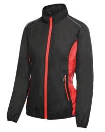 Regatta TRA413 Athens Ladies Tracksuit Top - Black / Classic Red