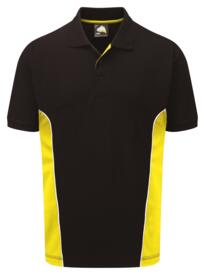 ORN Two Tone Polo Shirt - Black / Yellow