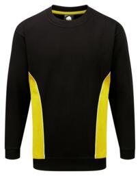 ORN Two Tone Sweatshirt - Black / Yellow