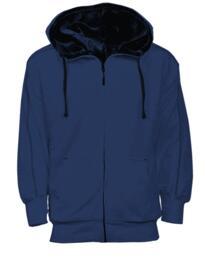 Crane Fur Lined Hoody - Navy Blue