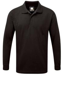 Weaver Long Sleeve Polo Shirt from ORN clothing - Black