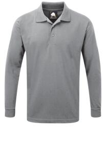 ORN Weaver Long Sleeve Polo Shirt - Ash