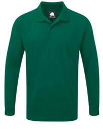 Weaver Long Sleeve Polo Shirt from ORN clothing - Bottle Green