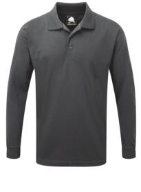 Weaver Long Sleeve Polo Shirt from ORN clothing - Graphite