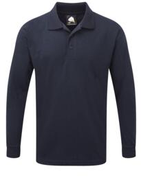 Weaver Long Sleeve Polo Shirt from ORN clothing - Navy Blue