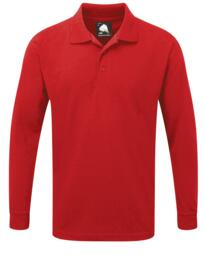 Weaver Long Sleeve Polo Shirt from ORN clothing - Red