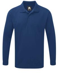 Weaver Long Sleeve Polo Shirt from ORN clothing - Royal Blue
