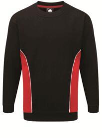 ORN Two Tone Sweatshirt - Black / Red