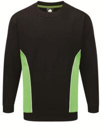 ORN Two Tone Sweatshirt - Black / Lime Green