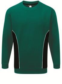 ORN Two Tone Sweatshirt - Bottle Green / Black