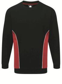 ORN Two Tone Sweatshirt - Navy Blue / Red