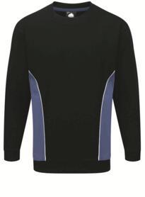 ORN Two Tone Sweatshirt - Navy Blue / Royal Blue