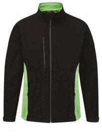 ORN Two Tone Softshell Jacket - Black / Lime Green