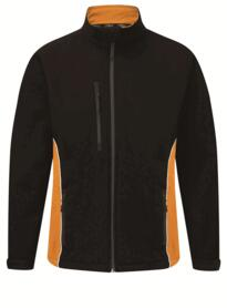 ORN Two Tone Softshell Jacket - Black / Orange