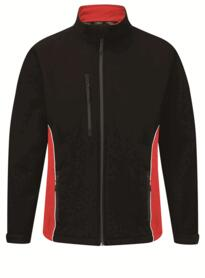 ORN Two Tone Softshell Jacket - Black / Red