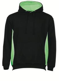 ORN Two Tone Hooded Sweatshirt - Black / Lime Green