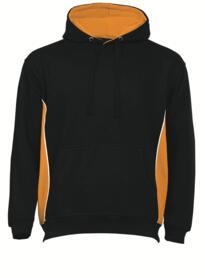 ORN Two Tone Hooded Sweatshirt - Black / Orange