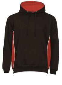 ORN Two Tone Hooded Sweatshirt - Black / Red