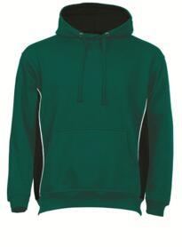 ORN Two Tone Hooded Sweatshirt - Bottle Green / Black