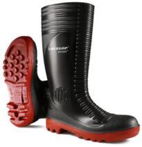 Dunlop Acifort Ribbed Full Safety Wellington Boots - Black
