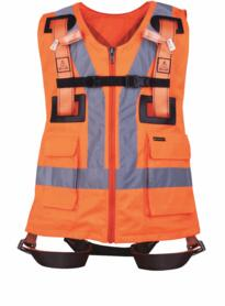 Fall Arrester Harness 2 point with HiVis Vest - Hi-Vis Orange