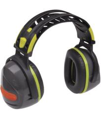 Interlagos Ear Defenders from Deltaplus - Grey / Fluorescent Yellow