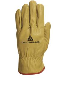 FBJA49 Cowhide full grain leather glove (pack of 12 pairs) - Yellow