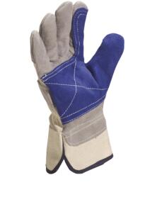 Cowhide Docker Safety Glove DS202RP (Pack of 12 pairs) - Grey / Blue