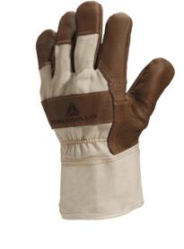 White cloth furniture Leather grain glove (Pack of 12 pairs) - White