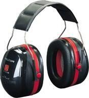 Peltor Optime 3 Ear Defender - Black / Red