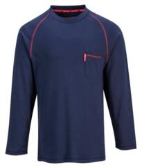 Bizflame Flame Resistant Henley Shirt - Navy Blue