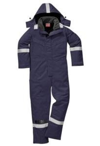 Flame Resistant Anti-Static Winter Coverall - Navy Blue