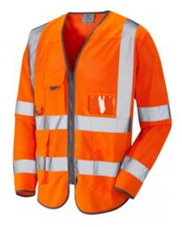 Leo Coolviz Long Sleeved Executive Vest - Orange