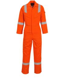 Flame Resistant Super Light Weight Anti-Static Coverall - Orange