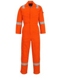 Flame Resistant Light Weight Anti Static Coverall - Orange