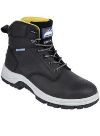 Black Leather Safety Boot from Himalayan - Black