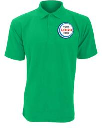 Discounted Polo Shirt for Embroidery - Kelly Green