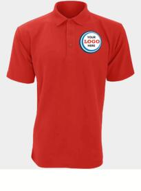 Discounted Polo Shirt for Embroidery - Red