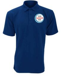 Discounted Polo Shirt for Embroidery - Royal Blue