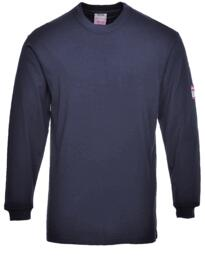 Flame Resistant Anti-Static Long Sleeved T-Shirt - Navy Blue