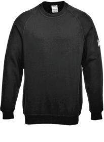 Flame Resistant Anti-Static Long Sleeved Sweatshirt - Black