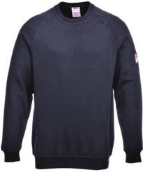 Flame Resistant Anti-Static Long Sleeved Sweatshirt - Navy Blue