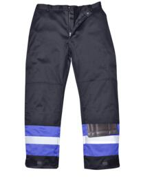 Bizflame Pro Two Tone Flame Resistant Trousers - Navy Blue and Royal Blue