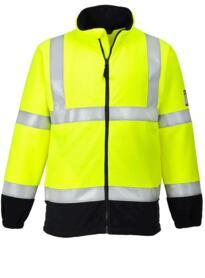 Flame Resistant Anti-Static HiVis Fleece - Yellow / Navy Blue