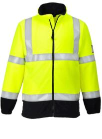 Flame Resistant Anti-Static HiVis Fleece - Yellow / Navy Blue