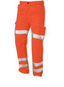 ORN HiVis Polycotton Cargo Trousers - Orange