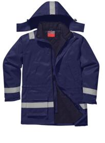 Flame Resistant Anti-Static Winter Jacket - Navy Blue
