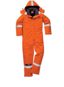 Flame Resistant Anti-Static Winter Coverall - Orange