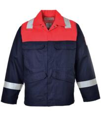 Bizflame Plus Two Tone Flame Retardant Jacket - Navy Blue / Red