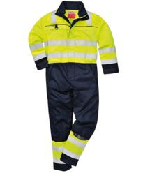 Flame Resistant Hi-Vis Multi-Norm Coverall - Yellow / Navy Blue